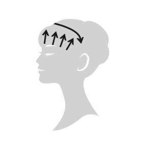 エレクトロン エブリワン デンキバリブラシ(電気バリブラシ) 顔 使用方法6 額