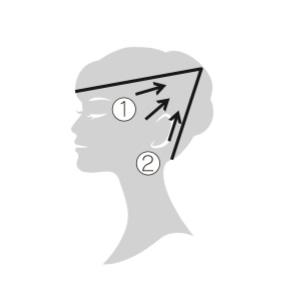 エレクトロン エブリワン デンキバリブラシ(電気バリブラシ) 頭皮 使用方法3 側頭部