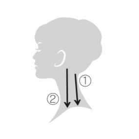 エレクトロン エブリワン デンキバリブラシ(電気バリブラシ) 頭皮 使用方法5 首・肩